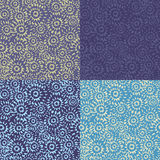 Collection of seamless patterns Royalty Free Stock Photography