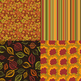 Collection of seamless patterns Royalty Free Stock Images