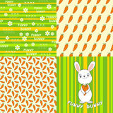 Collection seamless patterns. Bunny. Royalty Free Stock Image