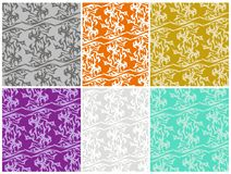 Abstract color patterns with eagle elements Royalty Free Stock Image