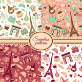 Collection of seamless patterns Royalty Free Stock Photos