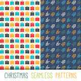 Collection of  seamless patterns. Royalty Free Stock Images
