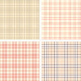 Collection of seamless plaid patterns Stock Images
