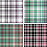Collection of seamless plaid patterns Royalty Free Stock Images