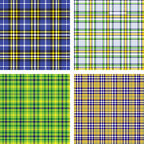 Collection of seamless plaid patterns Royalty Free Stock Image