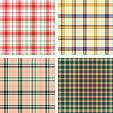 Collection of seamless plaid patterns Stock Photography