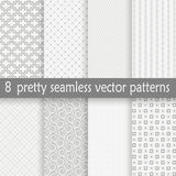 Collection seamless pretty backgrounds Stock Image