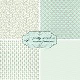 collection seamless pretty backgrounds Stock Photos