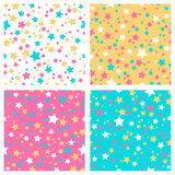 Collection of 4 seamless textures stock illustration