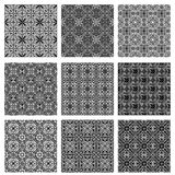 Collection with seamless tiling ornamental textures Stock Images