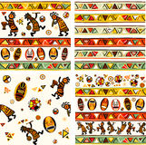 Collection of  seamless vector background. Collection of seamless vector  background with african traditional patterns Royalty Free Stock Photography