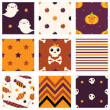 Collection of seamless vector Halloween background. Set of seamless vector Halloween background of orange, black and red color. Endless texture can be used for Stock Photos