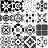 Collection from seamless vector patterns in retro style Stock Photo