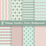 Collection seamless vintage backgrounds Stock Photography