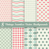 Collection seamless vintage backgrounds Stock Image