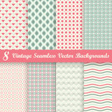 Collection seamless vintage backgrounds Royalty Free Stock Photo