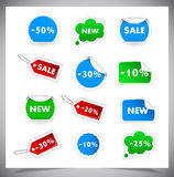 Collection Of Selling Badges and stickers Royalty Free Stock Photo