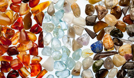 A collection of semi-precious stones Royalty Free Stock Photography
