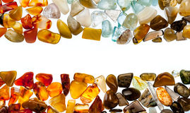 A collection of semi-precious stones Stock Photos