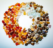 A collection of semi-precious stones Royalty Free Stock Photo