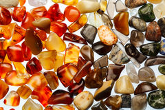 Collection of semi-precious stones Royalty Free Stock Image