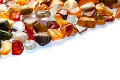 Collection of semi-precious stones Royalty Free Stock Photos