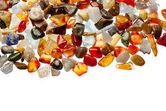 Collection of semi-precious stones Stock Photography