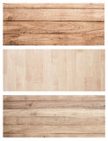 Collection Set Brown wood plank wall texture background banner f Stock Photography