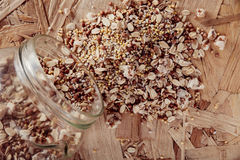 Collection Set of Cereal Grains Millet, Oat, Corn,Rice Stock Photos