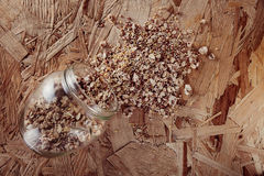 Collection Set of Cereal Grains Millet, Oat, Corn,Rice Stock Images