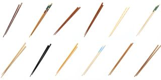 Collection set chopsticks Royalty Free Stock Photography