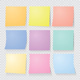 Collection set of colorful post it paper note. Stock Images