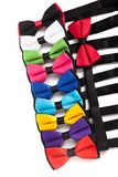 Collection set of colorful ribbon bows isolation. On a white background Royalty Free Stock Image