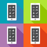 Collection set of flat icons business theme Stock Photos