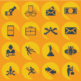 Collection set of flat icons business theme Stock Photography