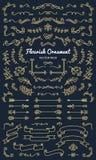 Collection set of flourish ornament label vector illustration vector illustration