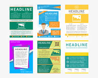 Collection set of flyers Royalty Free Stock Photo