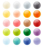 Collection set of glossy colorful button element  Royalty Free Stock Image