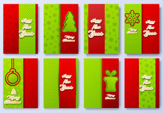 Collection set of merry christmas and happy new year 2016 backgroun illustration concepts.  Vector decorative retro. Collection set of merry christmas and happy Stock Images