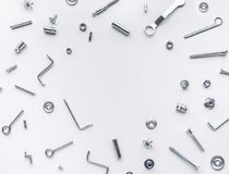 Free Collection Set Of House Repair Tools, Wrenchs, Screw, Bolts Stock Photos - 121802763