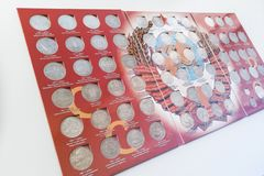 Collection set of rare coins of the Soviet Union royalty free stock photography