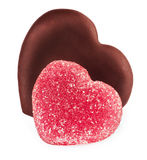Collection set of shape hearts candy Stock Image