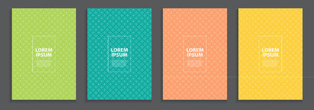 Collection Set of Simple Minimal Covers Business Template Design. Future Geometric Pattern. Vector Illustration Stock Photography