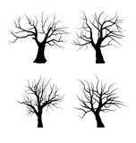 Collection Set of Trees Silhouettes isolated Royalty Free Stock Photos