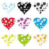 Collection of shape patterns Royalty Free Stock Images