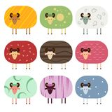 Collection of sheep Stock Photo