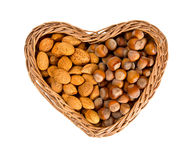 Collection of shelled nuts Royalty Free Stock Images