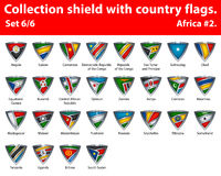 Collection shield with country flags. Part 6 of 6 Royalty Free Stock Image