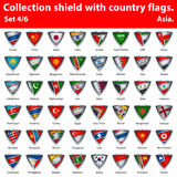 Collection shield with country flags. Part 4 of 6 Stock Photo