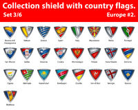 Collection shield with country flags. Part 3 of 6 Stock Photos